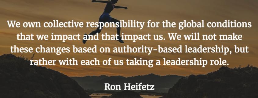 ron heifetz leadership quote