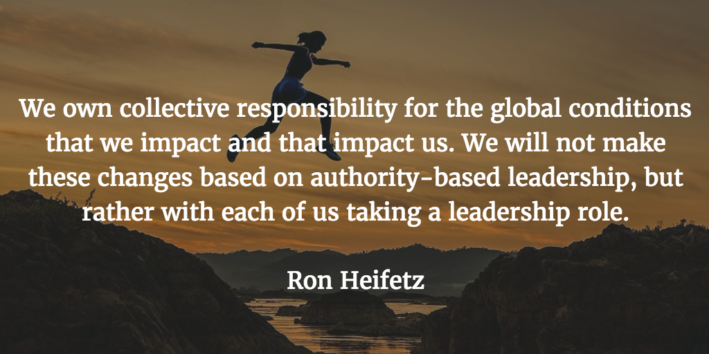 ron heifetz leadership quote