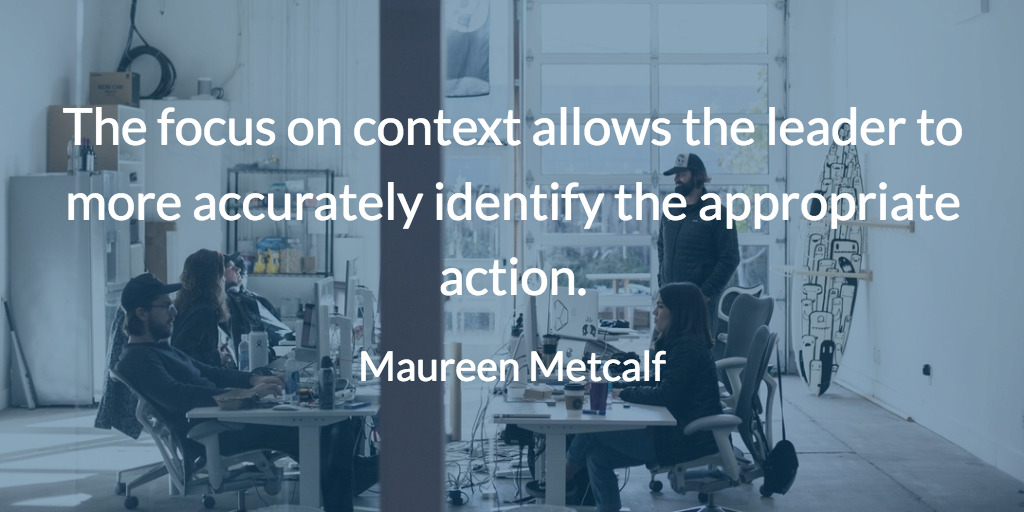 Context allows us to identify appropriate action