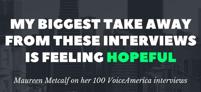 Metcalf Hopeful after 100 VoiceAmerica Interviews